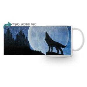 Howling Wolf on Mug