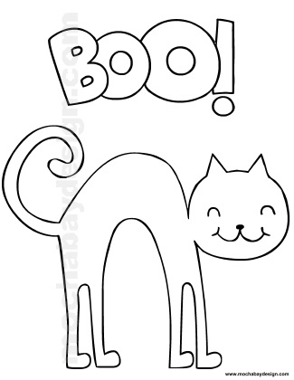 halloween black cat coloring page hicoloringpages