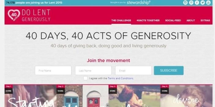 Acts of generosity