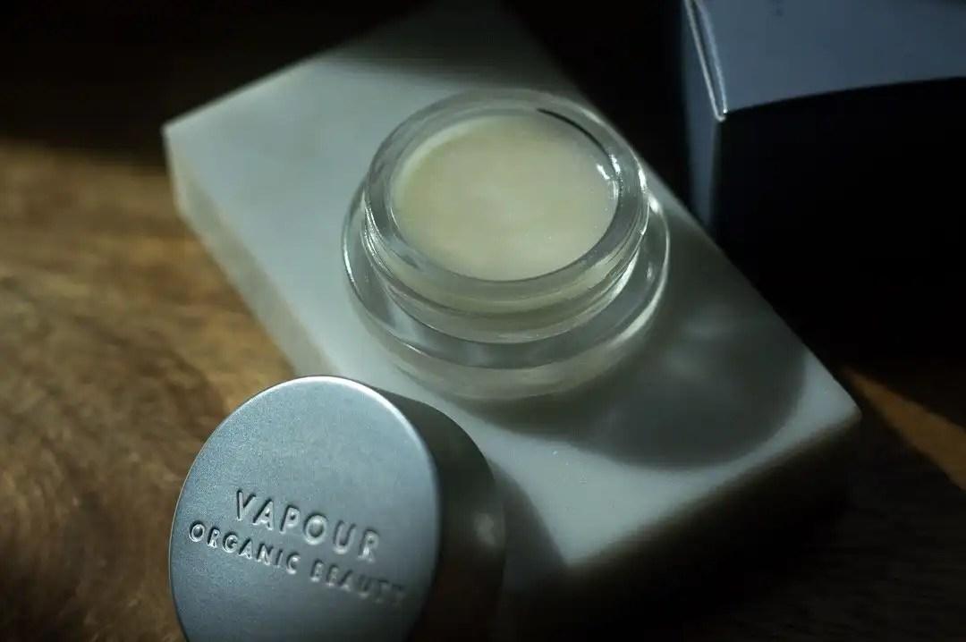 An opened jar of Vapour Velvet Lip Gloss for minimalist gift guide