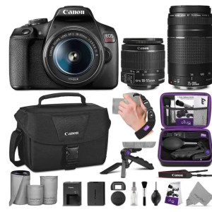 Photo of canon t7 camera body and lenses
