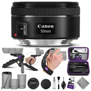 Canon 50mm lens and accessories
