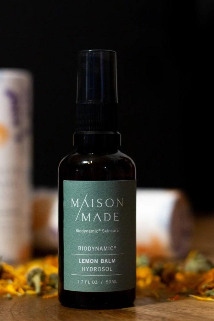 Close up of Maison Made Lemon Balm Hydrosol