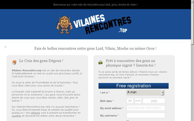 Site de Rencontres Moches, Vilains, Laids et Défauts