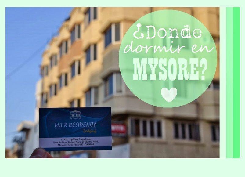 Donde dormir en Mysore, MTR Residency