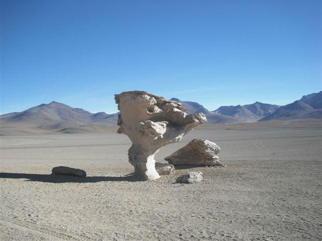Árvore de Pedra no Salar de Uyuni - Bolívia