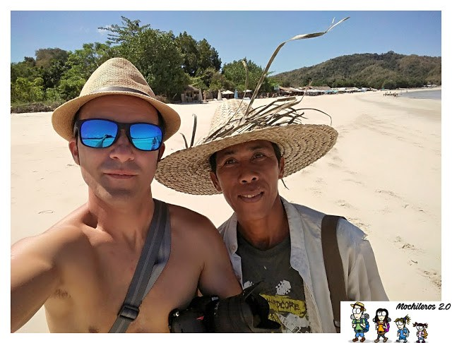 Foto con pastor en Selong Belanak