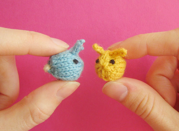 Tiny knitted bunnies