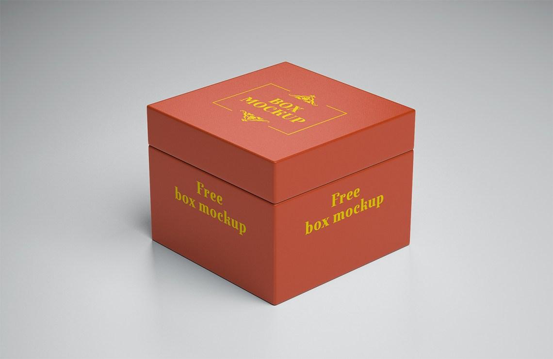Download Free Gift Box Mockup | Mockup World HQ