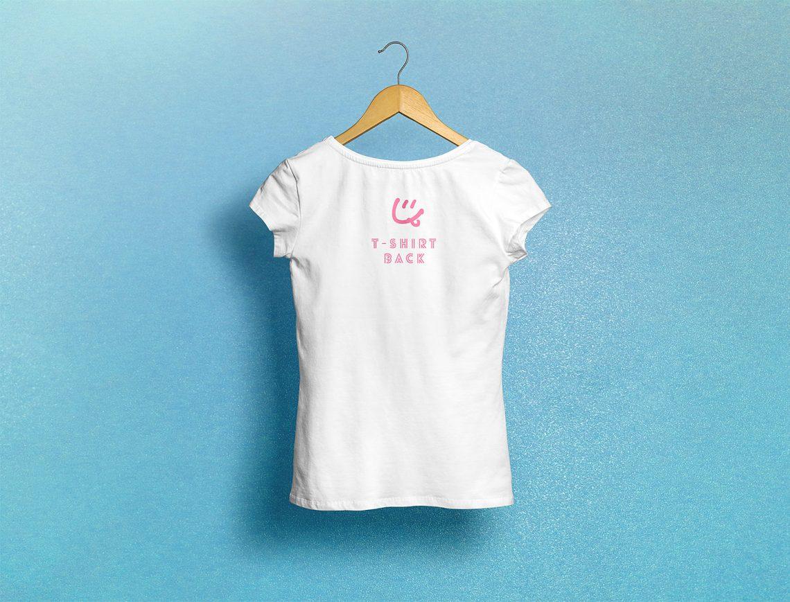 Download Woman T-Shirt Free Mockup | Mockup World HQ