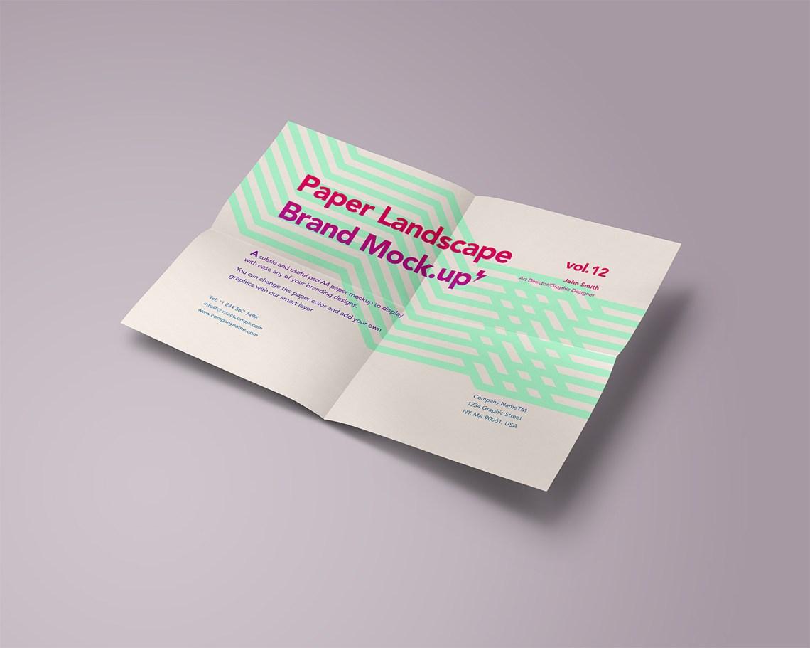 Download Free A4 Paper Mock-Up | Mockup World HQ