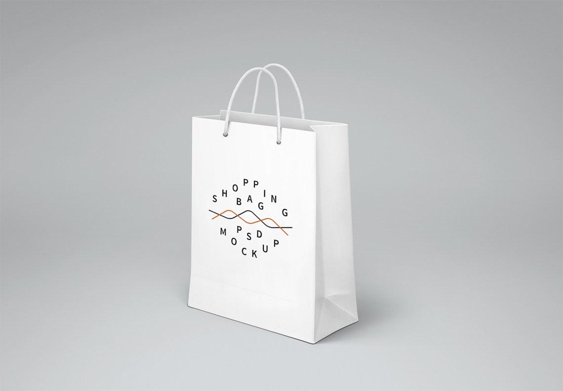 Download Free Shopping Bag Mockup | Mockup World HQ