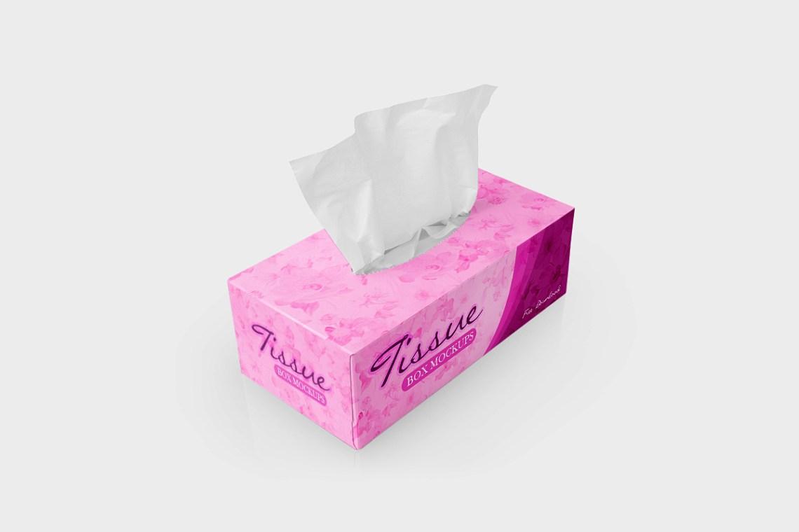 Download Free Tissue Box Mockups | Mockup World HQ
