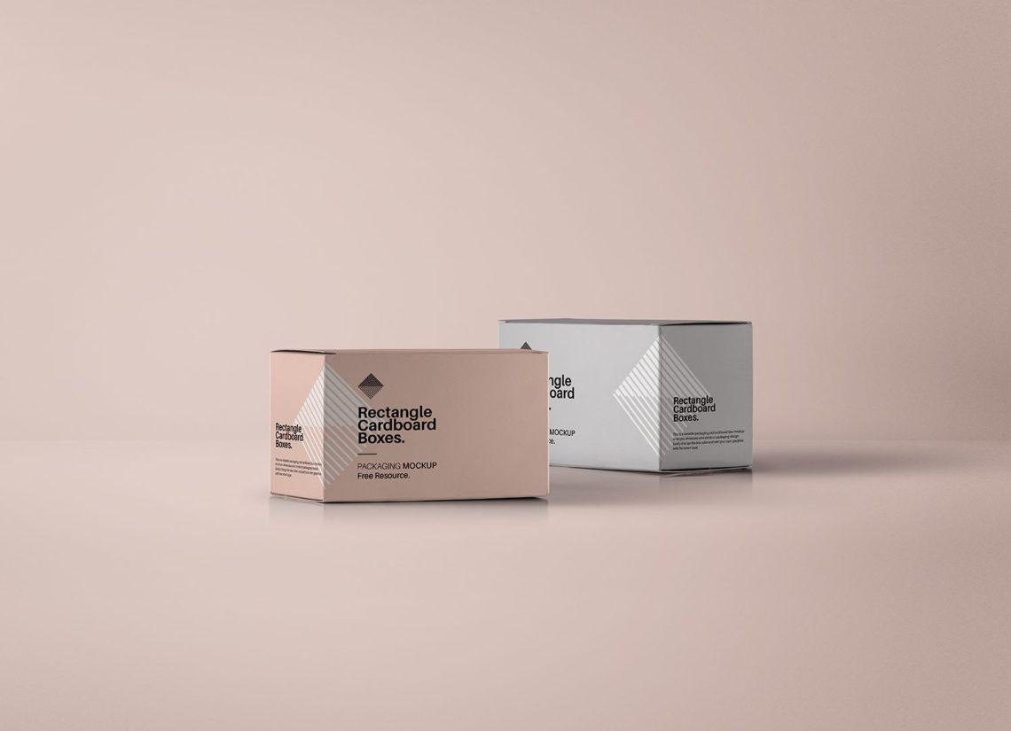 Download Rectangular PSD Box Mockup | Mockup World HQ