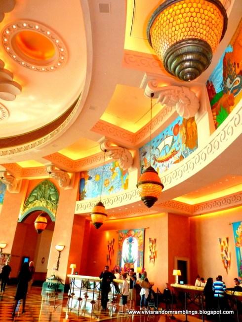 Dubai the Palm island Atlantis hotel interior