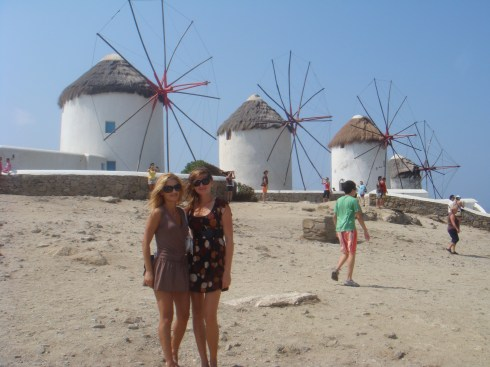 Greek island Mykonos windmills
