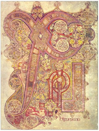 Book of Kells a lavishly illuminated Latin manuscript from the 8th century