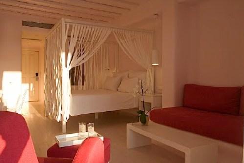 Greece Mykonos island room of Hotel Cavo Tagoo located in Mykonos town