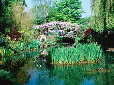 gardens at Giverny in eastern Normandy