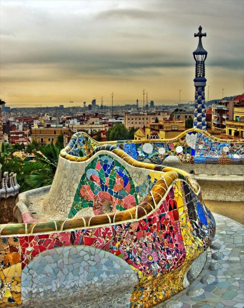 Barcelona Antonio Gaudi Park Guell