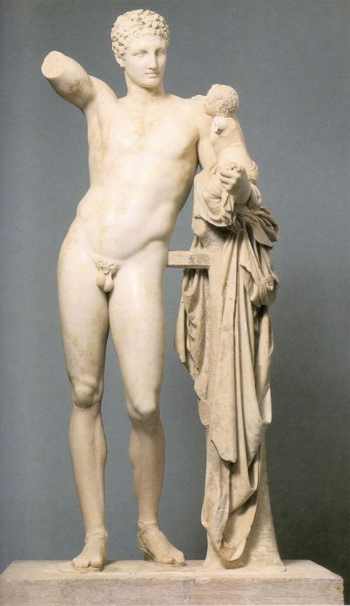 Hermes and the Infant Dionysus by Praxiteles