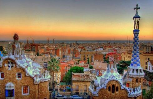 Spain Barcelona Park Guell Gaudi
