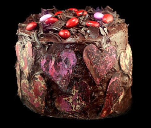 best chocolate valentine's cake