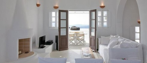 room of the Beautiful villa in Santorini Greece 3