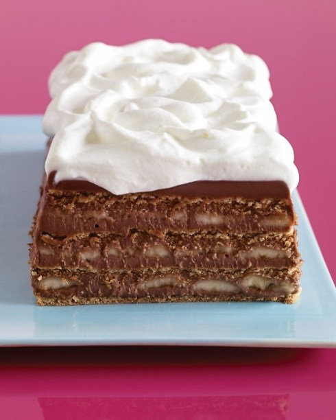 Delicious chocolate graham cracker cake for summer