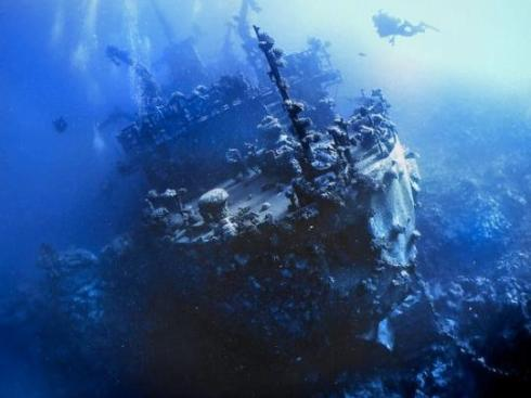 """Russian Wreck""  shipwreck Off Zabagad Island, South Egyptian Red Sea"