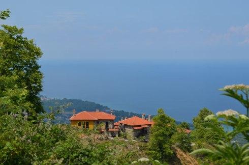 on the way to Agios Pandeleimonas from mount Olympus, the highest Greek mountain