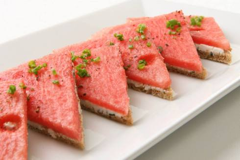 easy and refreshing watermelon sandwiches