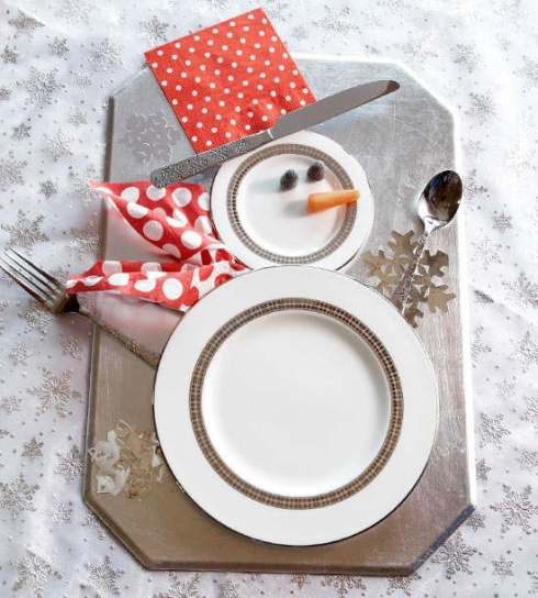 creative christmas table decor ideas  snowman