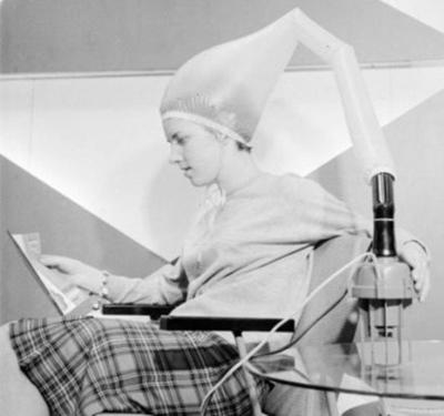 strange old timey inventions, hair dryer