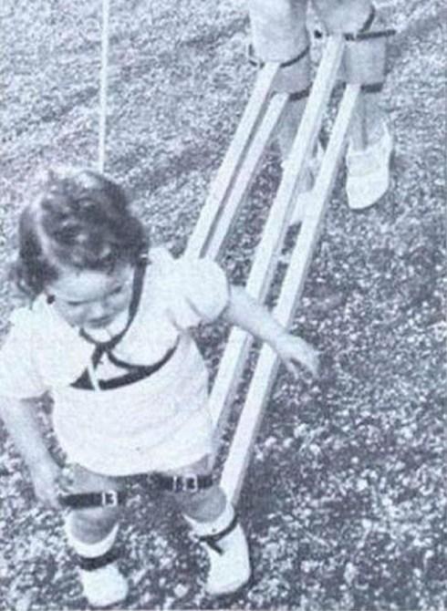 strange old timey inventions, kid walk