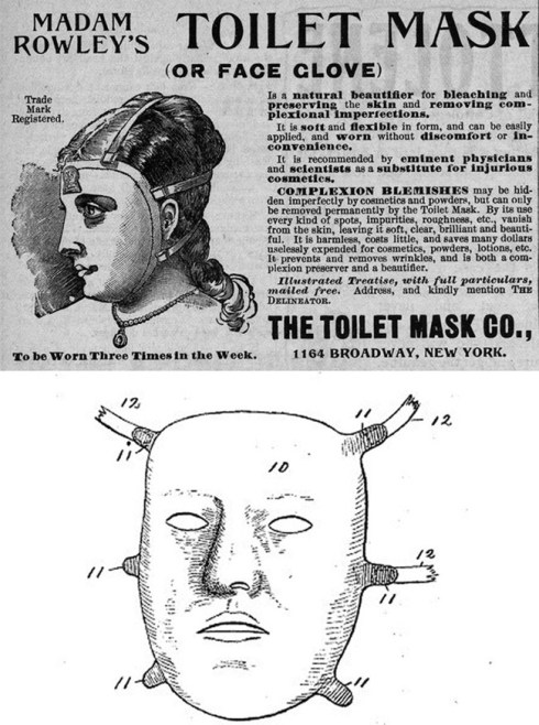 strange inventions from the past, toilet mask