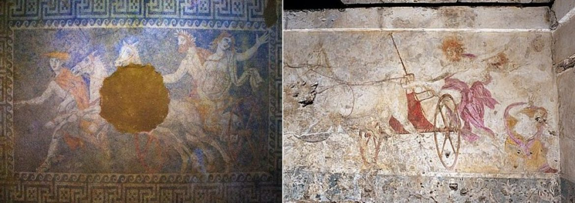 parallels between Verginas tombs and the new finds at Amphipolis, persephonis abduction