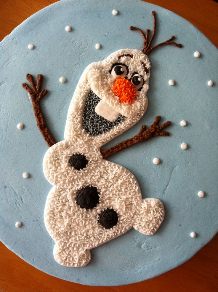 the cutest olaf cake 3