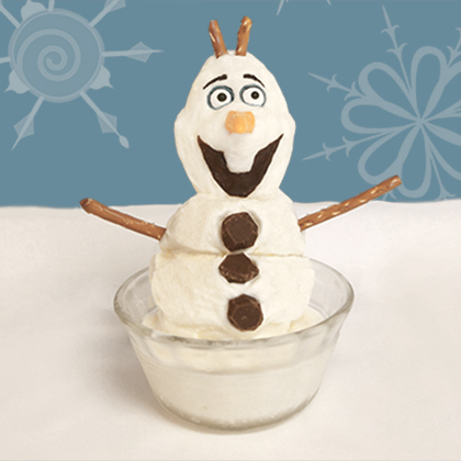 the cutest olaf treat made of icecream