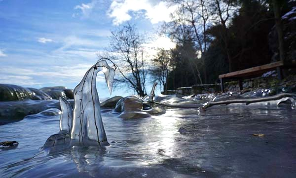 Frozen art by nature, lake