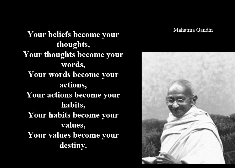 Image result for gandhi quotes words