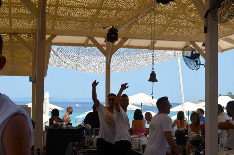 Greece Halkidiki Paliouri beach, best beach bar in Halkidiki Cabana