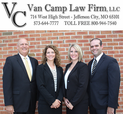 Van Camp Law Firm, LLC, 714 West High Street, Jefferson City, MO 65101, Phone: 573-644-7777; Toll Free: 800-944-7540