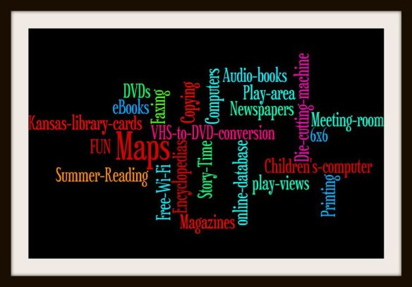 Library wordle with better frame