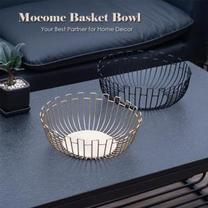 metal wire fruit storage basket bowl for home kitchen
