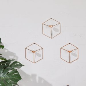 Jao 3D Metal Geometric Wall Hanging Tealight Candle Sconces
