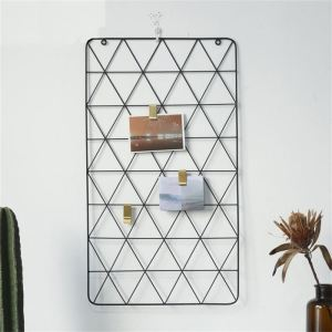 Frye Wall Grid Panel Decorative,Iron Rack Clip Multifunction Photo Hanging Display