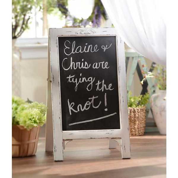 Memo & Chalkboards - Simple Whitewashed Chalkboard Easel
