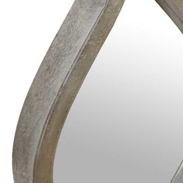 Wall Mirrors - Single Silver Teardrop Panel Mirror, 6.25x58.75