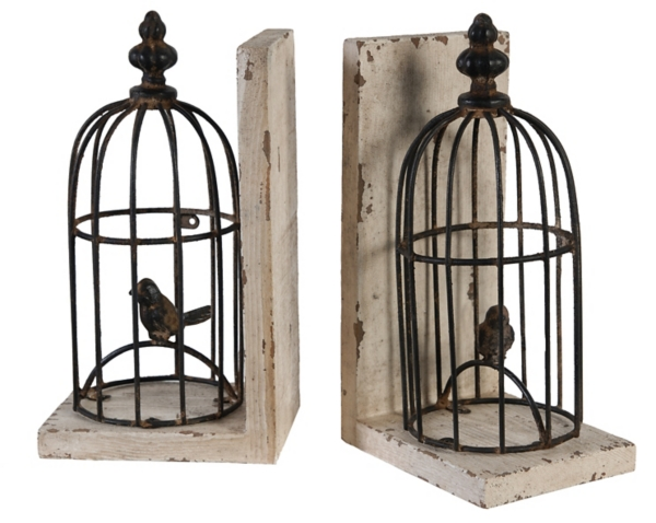 Decorative Accessories - Bird Cage Bookends